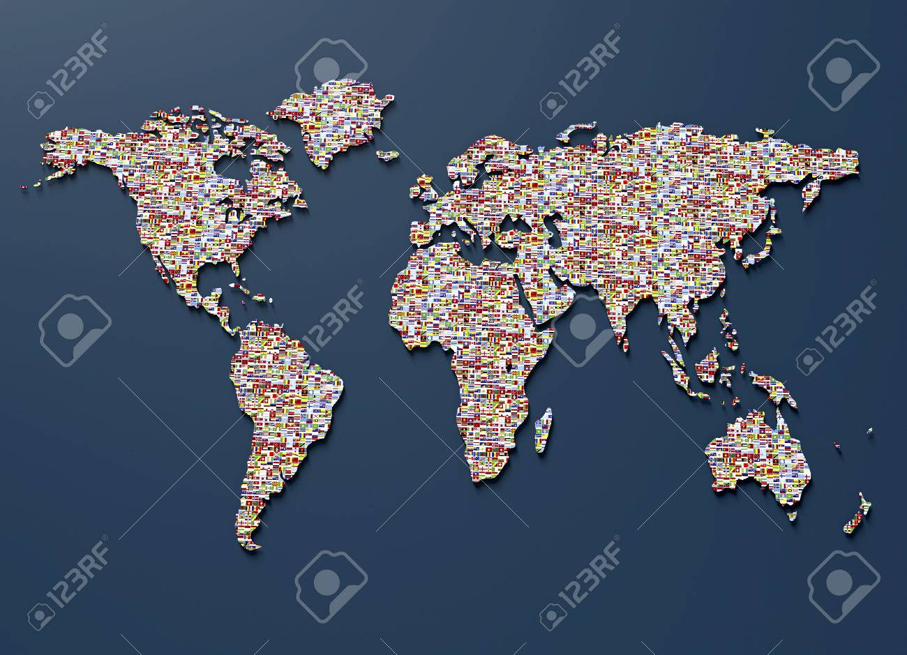 Symbol of geopolitics the world map made out of country flags stock stock photo symbol of geopolitics the world map made out of country flags gumiabroncs Images