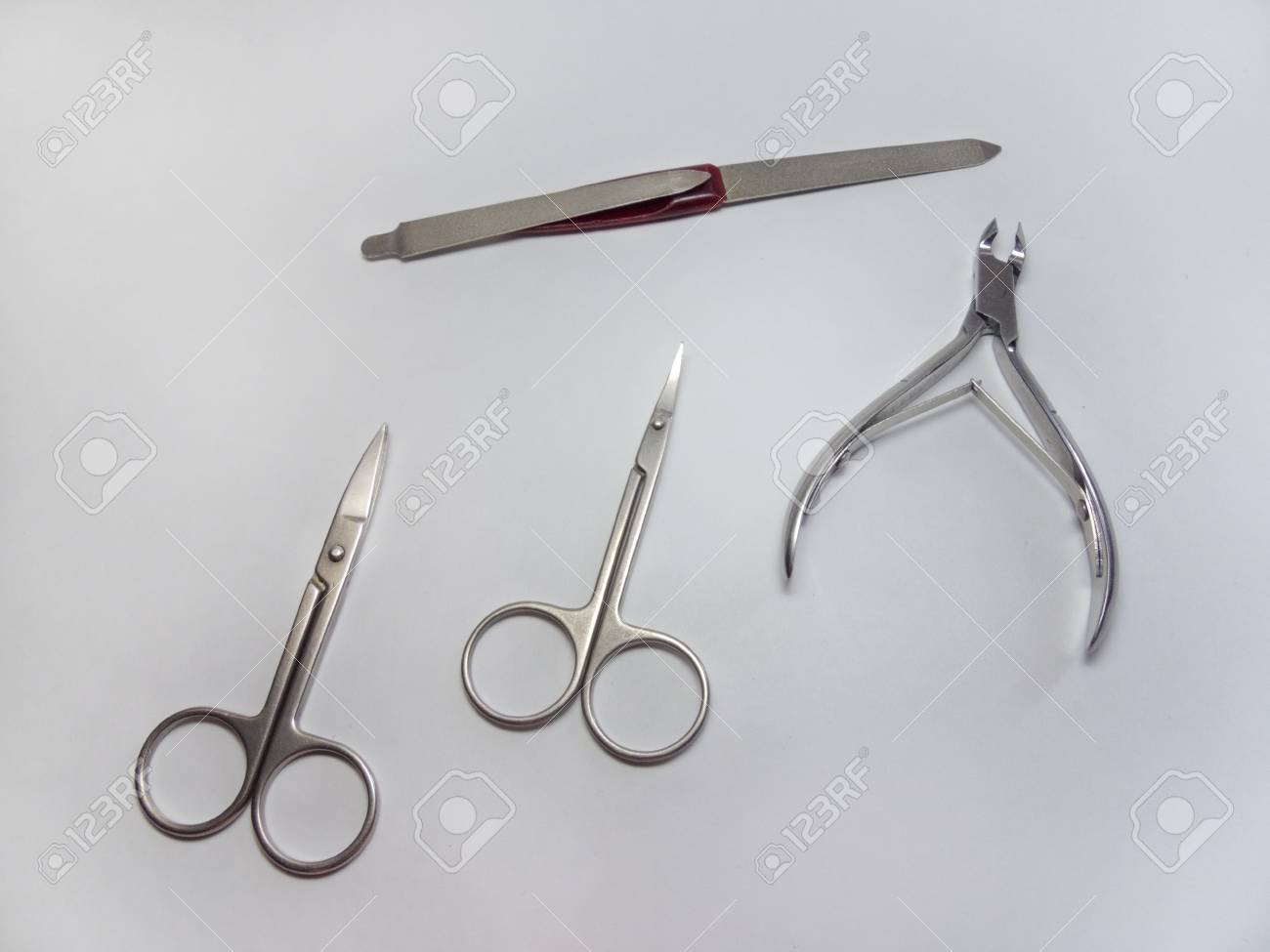 Manicure Set: Nail Nipper, Straight Scissors; Cuticle Scissors ...