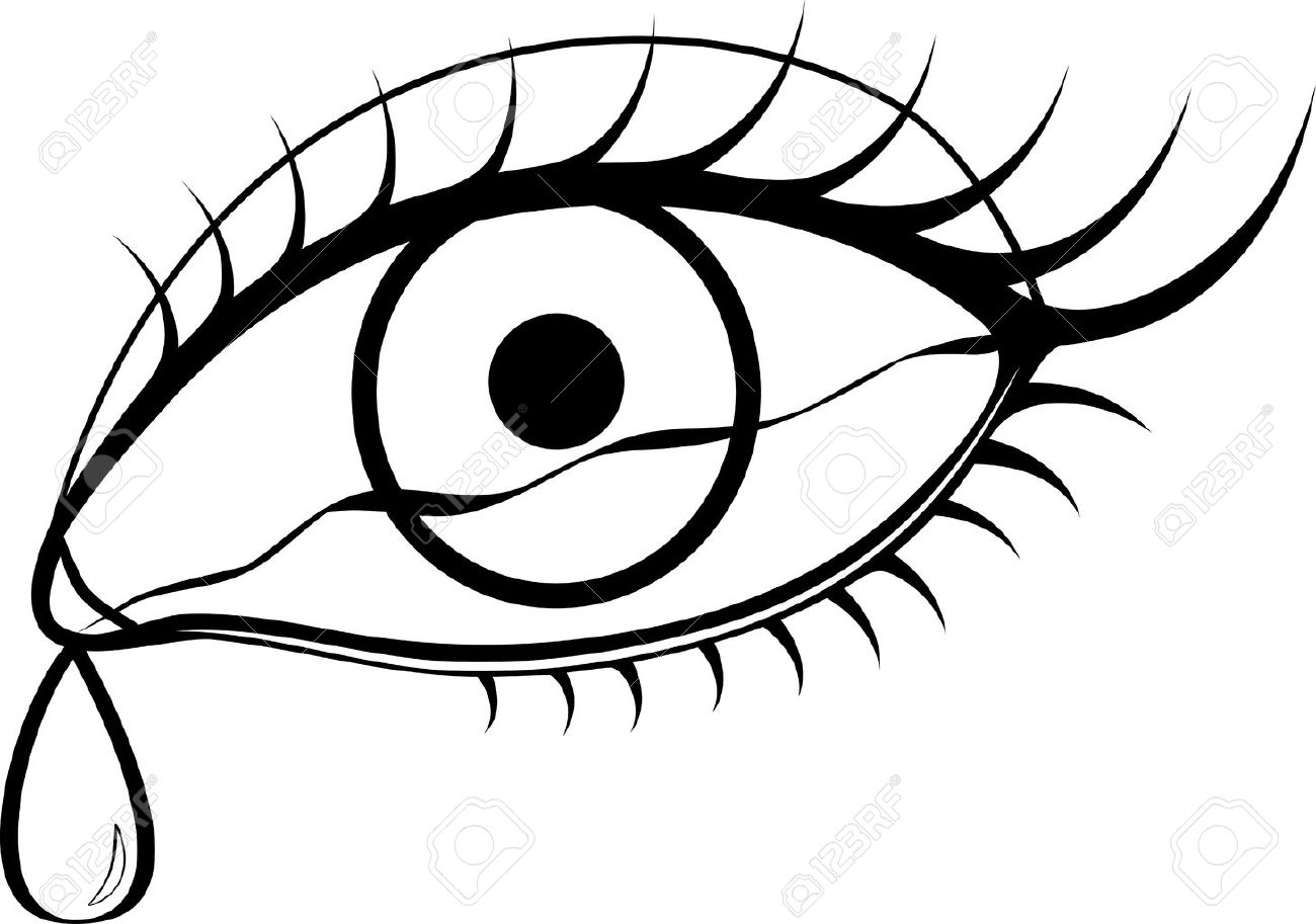 black and white eyes with tears royalty free cliparts vectors and