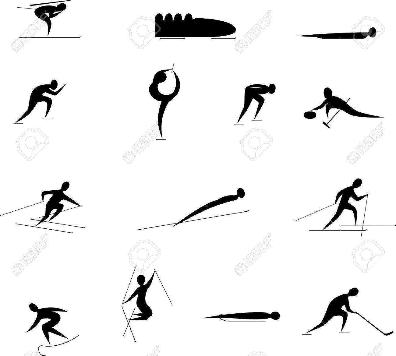 winter sports competition games icon set Stock Vector - 15731248