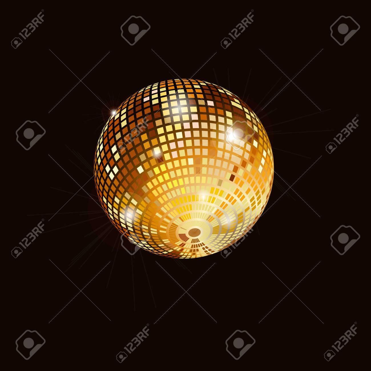 Isolated disco mirror ball Stock Vector - 16458462