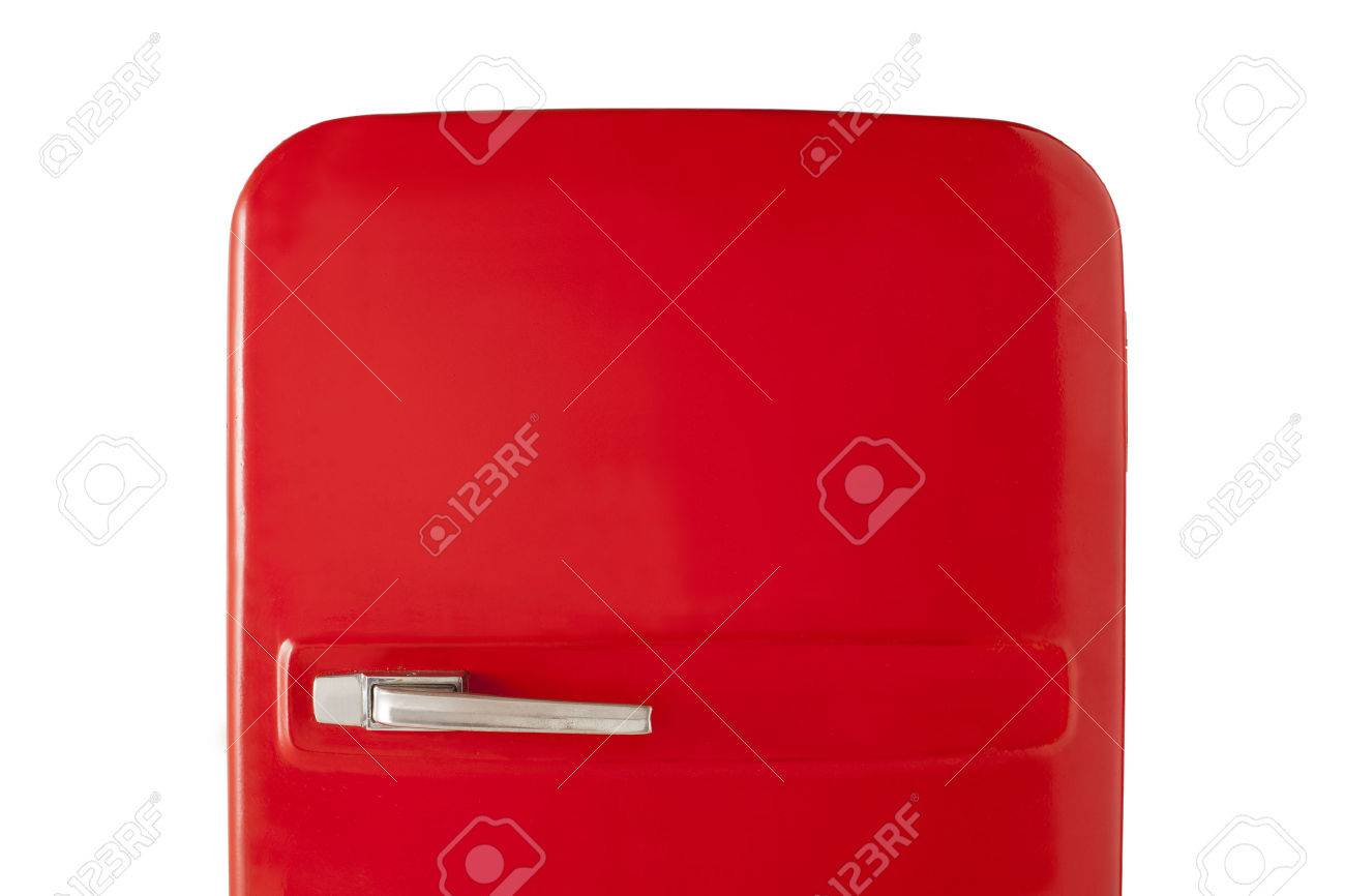 Kleiner Vintage Kühlschrank : Old red vintage kühlschrank isoliert auf weißem hintergrund