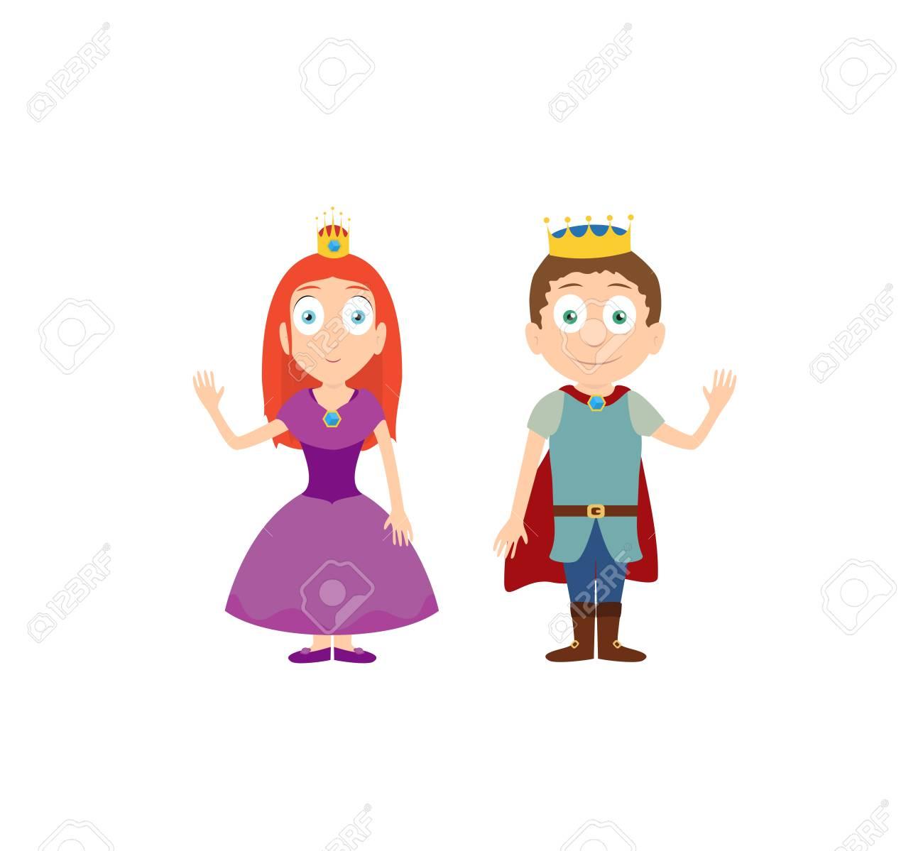 Ilustración Vectorial De Dibujos Animados De La Princesa Y El