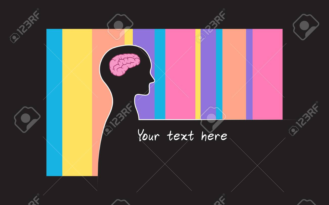 Abstract sillhouette of person with blue colour background brain abstract sillhouette of person with blue colour background brain symbol of intelligence place for biocorpaavc Images