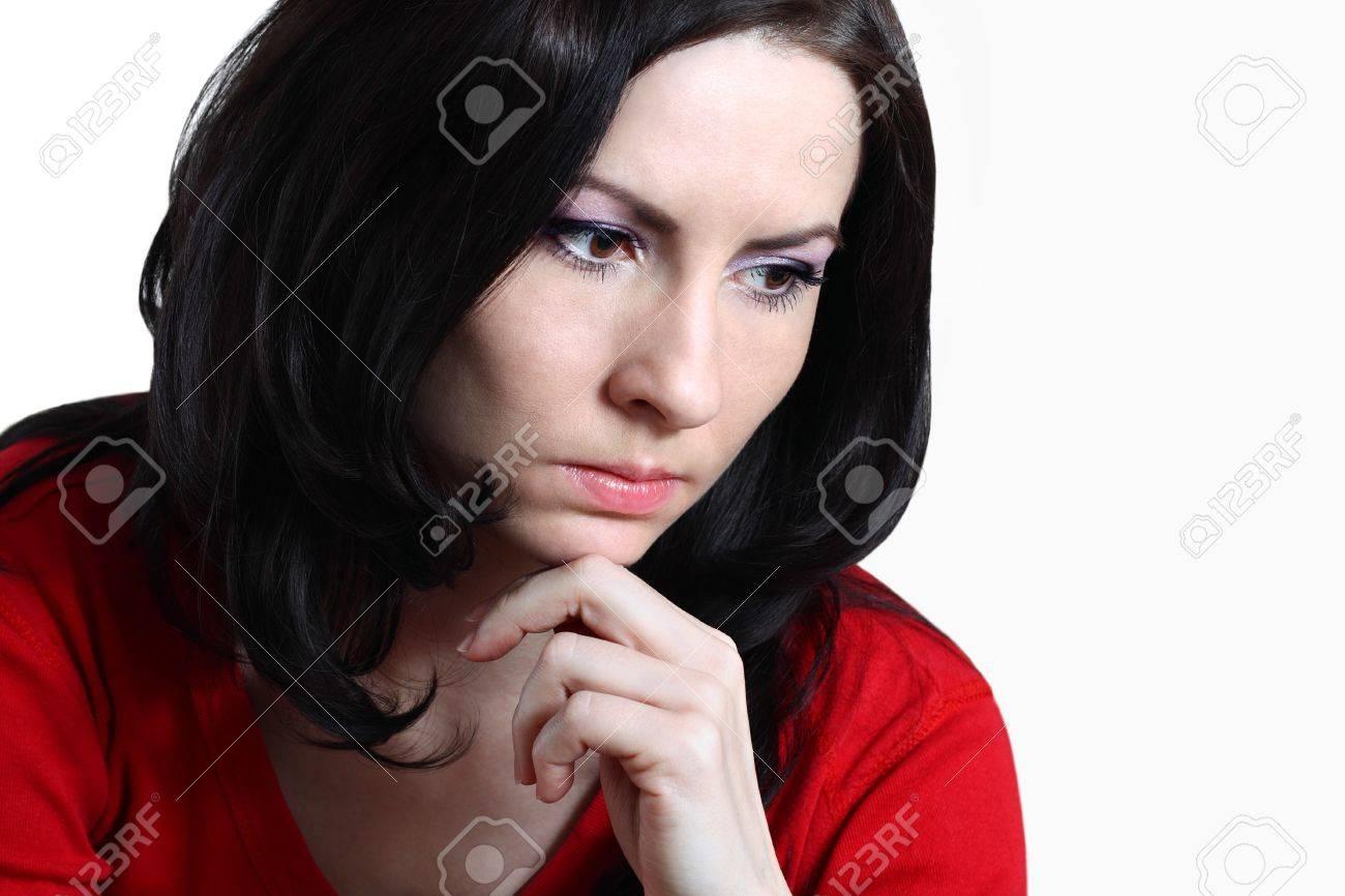 Брюнетка со связанными руками