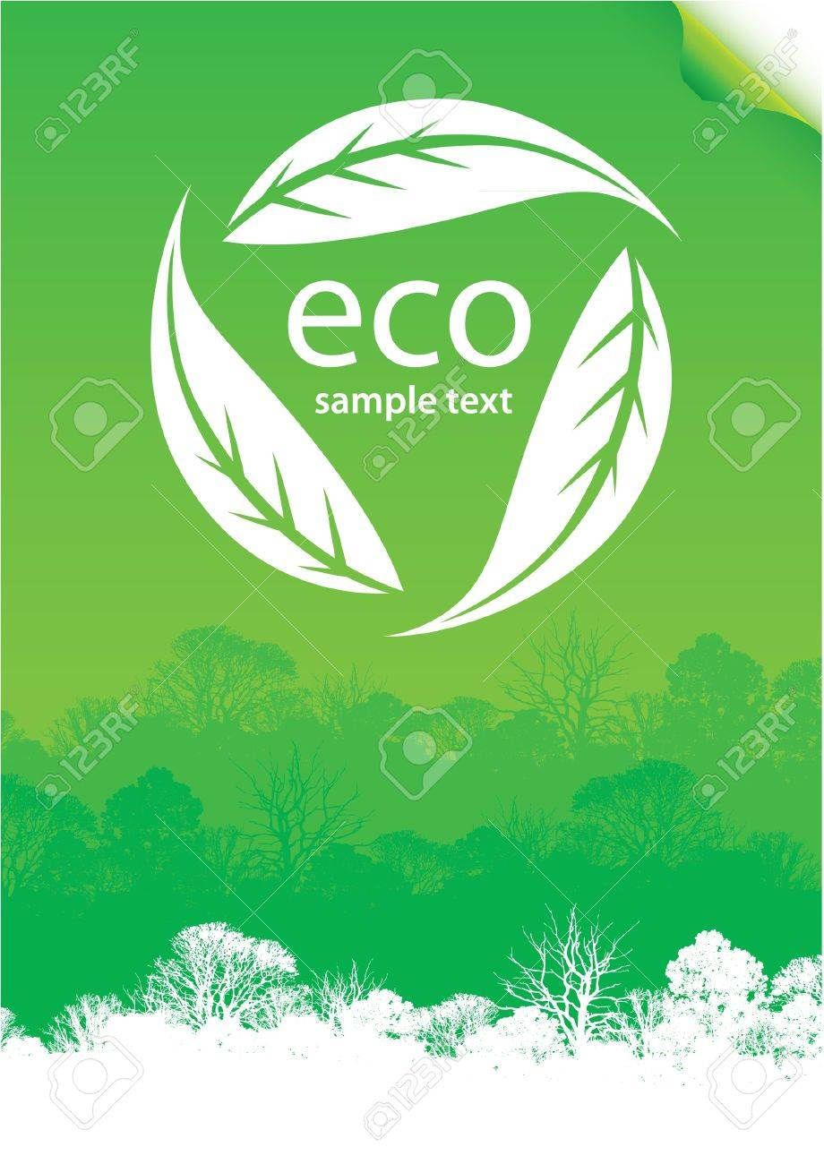 eco forest poster Stock Vector - 9150672