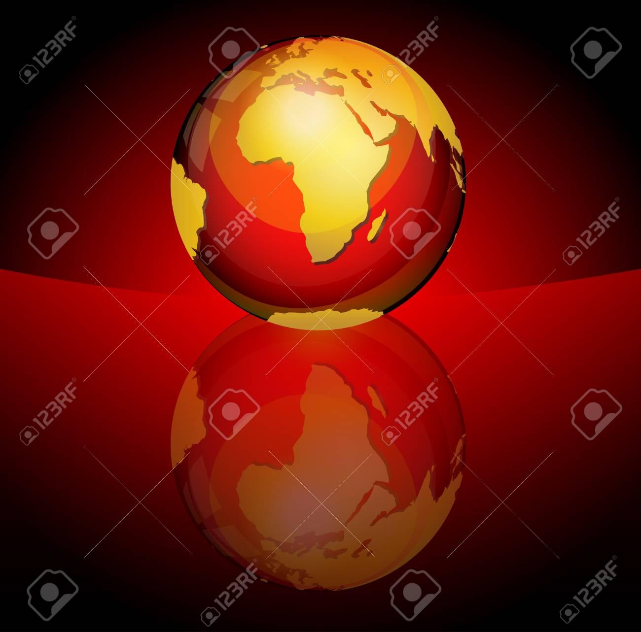 Glossy planet sphere Stock Vector - 10461734