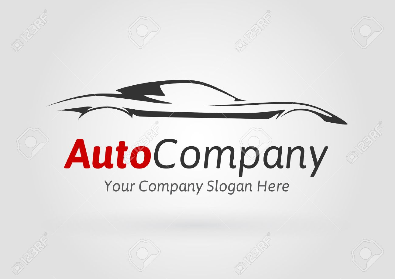 Modern Auto Vehicle Company Logo Design Concept With Sports Car Royalty Free Cliparts Vectors And Stock Illustration Image 49705604