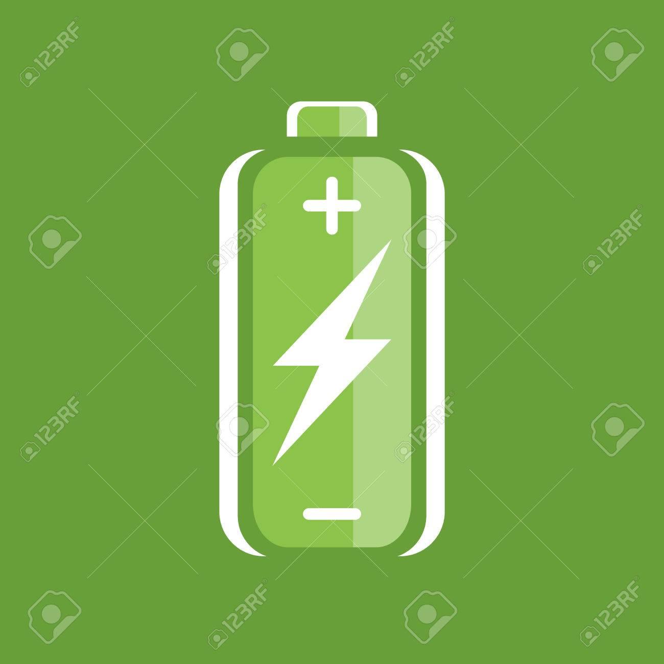 Grüne Batterie Ladesymbol. Batterieladung Zeichen ...