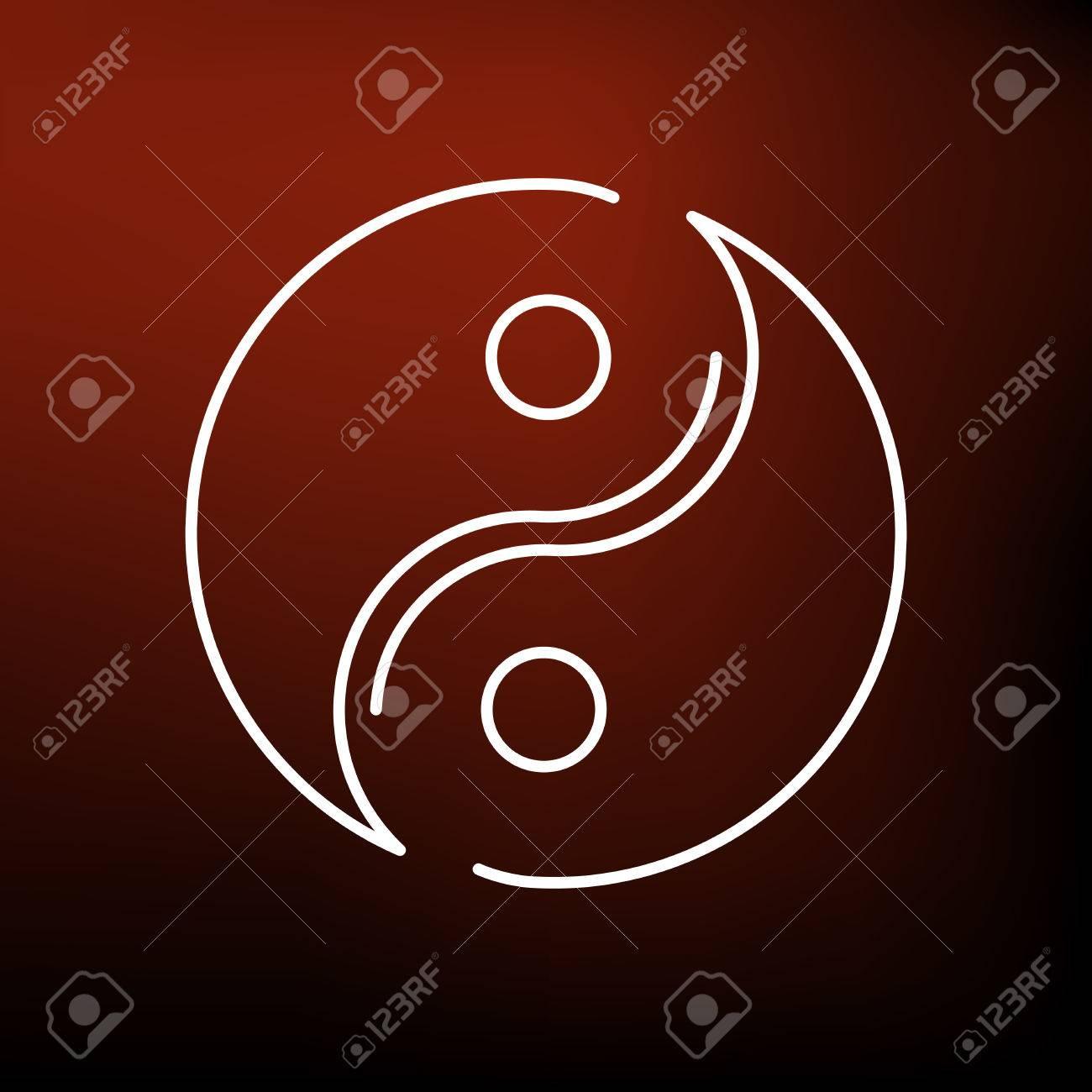 Asian Yin Yang Icon Yin Yang Sign Yin Yang Symbol Thin Line