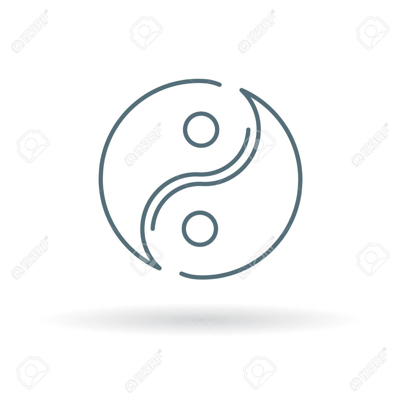 Yin Yang Icon Yin Yang Sign Yin Yang Symbol Thin Line Icon