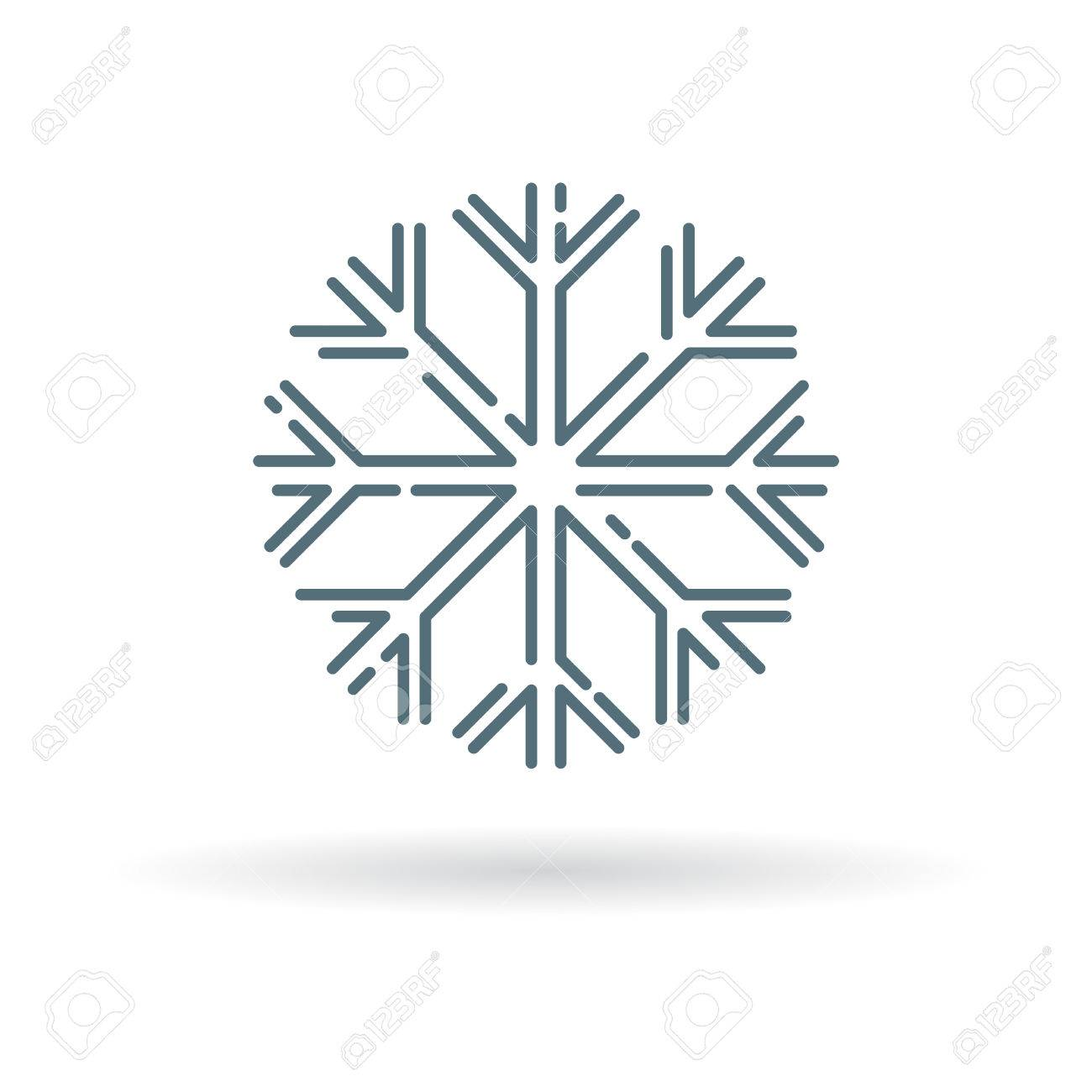 Snow Flake Icon Snow Flake Sign Snow Flake Symbol Thin Line