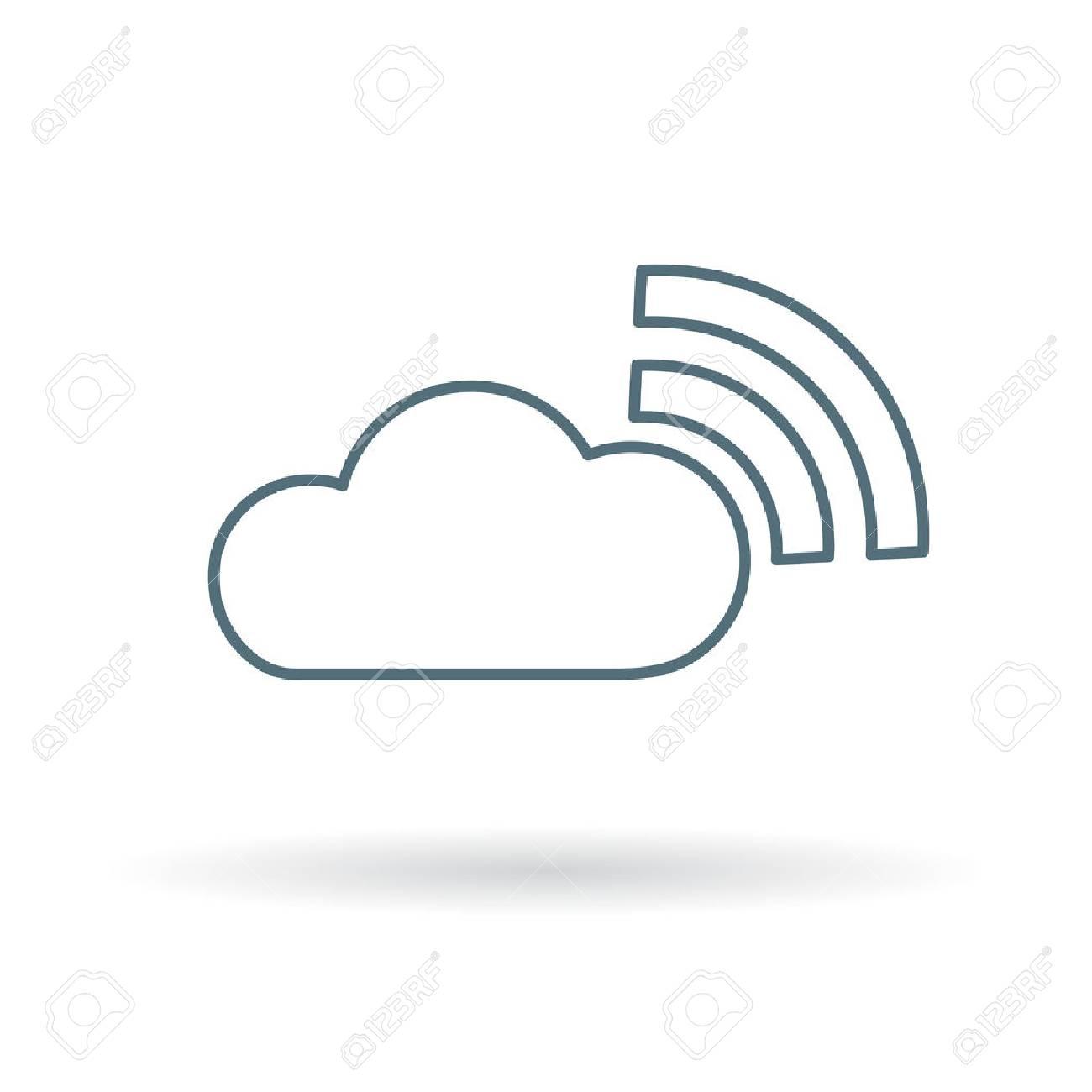 Wifi cloud icon wifi cloud sign wifi cloud symbol thin line wifi cloud icon wifi cloud sign wifi cloud symbol thin line icon on biocorpaavc Gallery