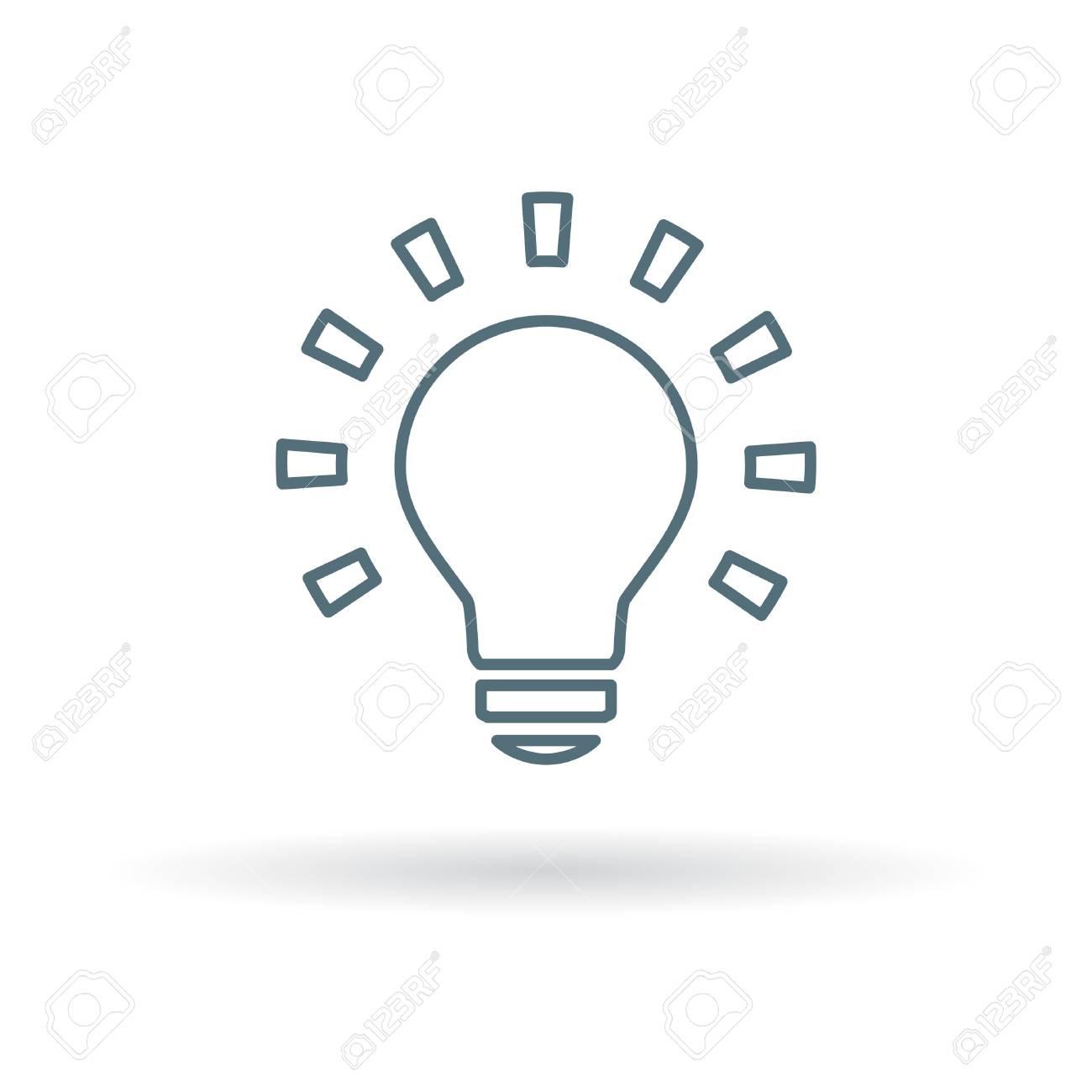 Lightbulb icon  Lightbulb sign  Lightbulb symbol  Thin line icon