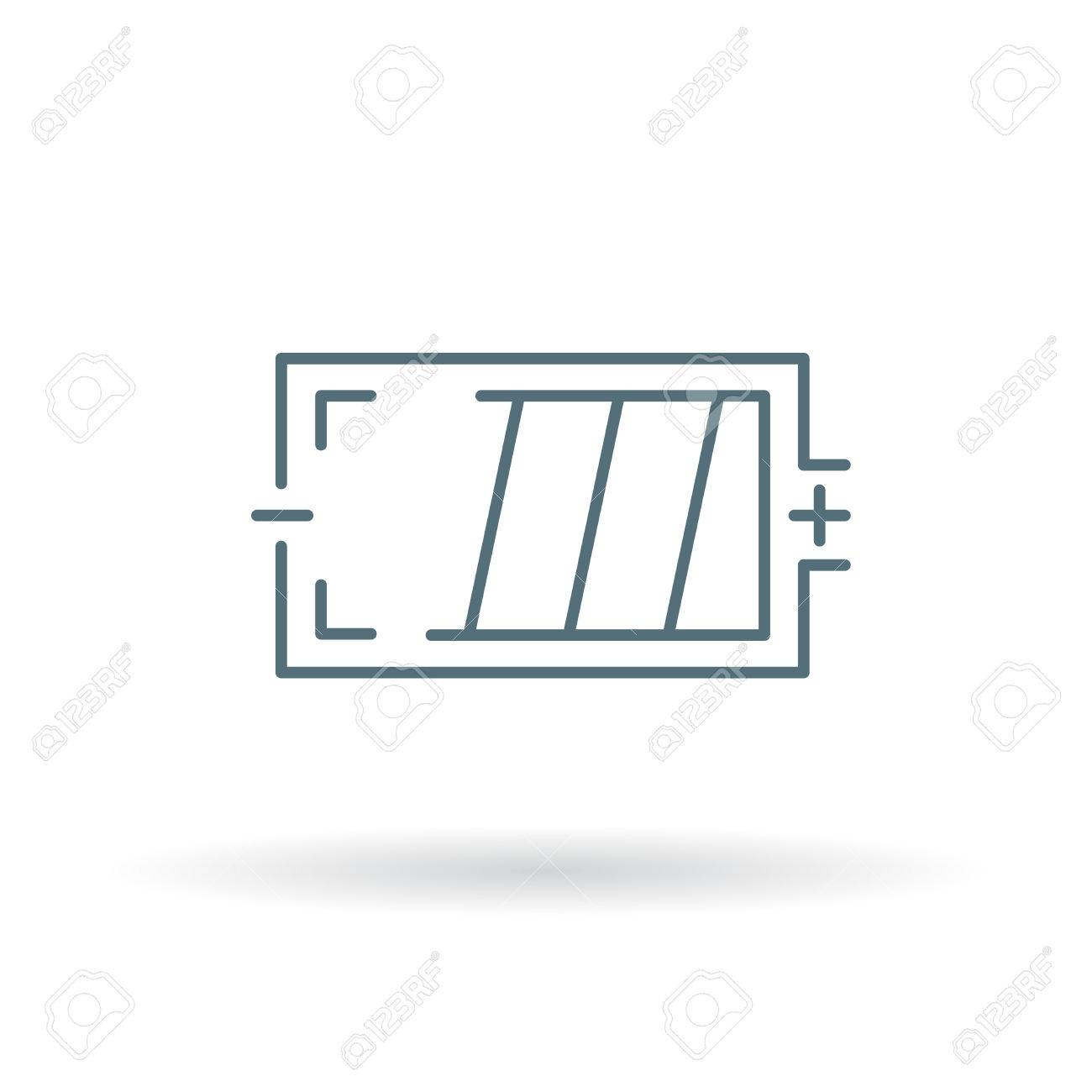 Battery Icon. Battery Sign. Battery Symbol. Thin Line Icon On ...