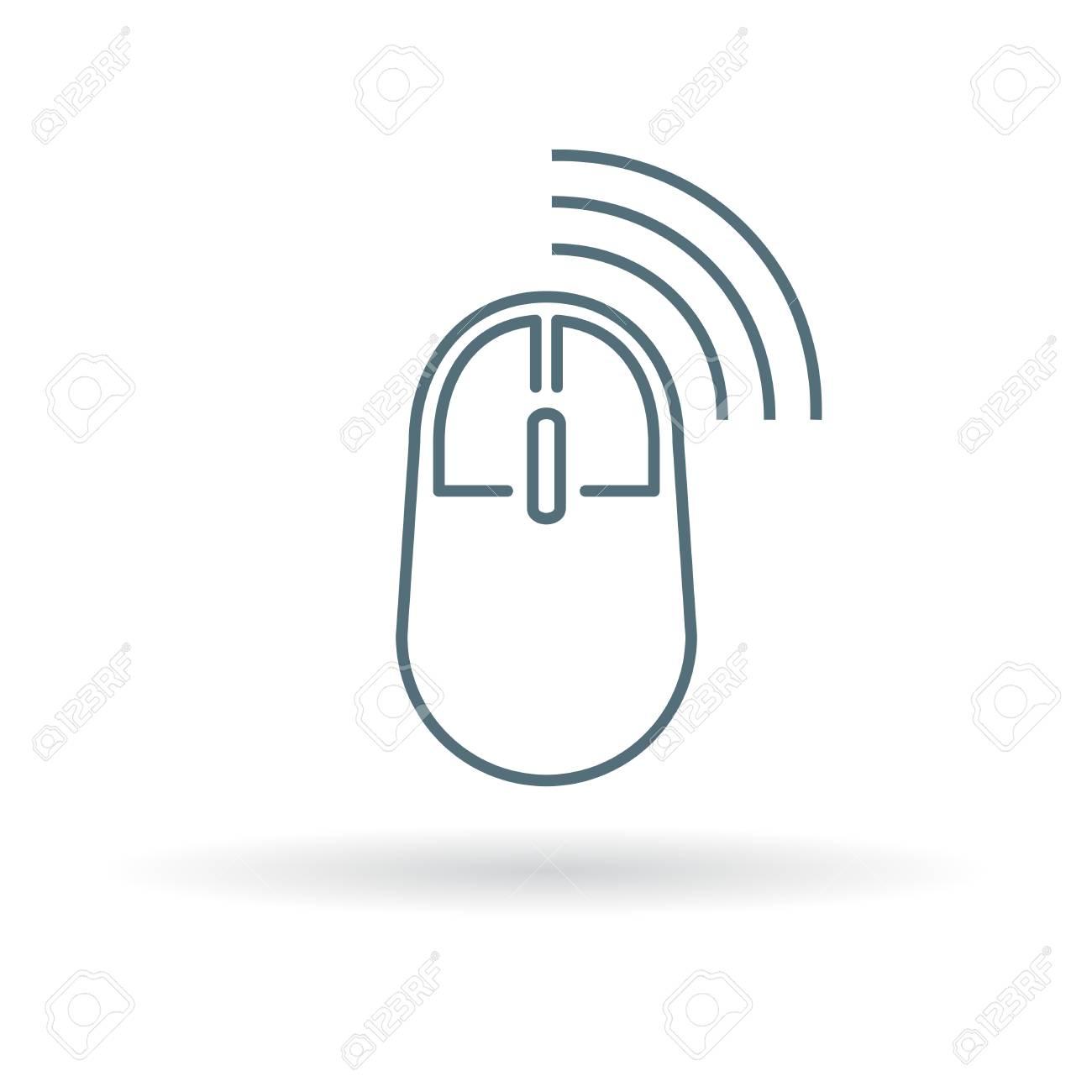 Wireless Mouse Icon. Wireless Mouse Sign. Wireless Mouse Symbol ...
