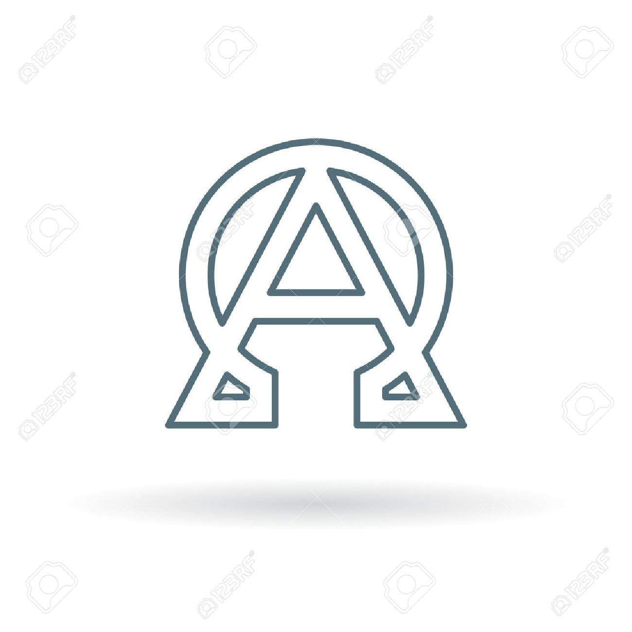 Alpha And Omega Icon Alpha And Omega Sign Alpha And Omega Symbol