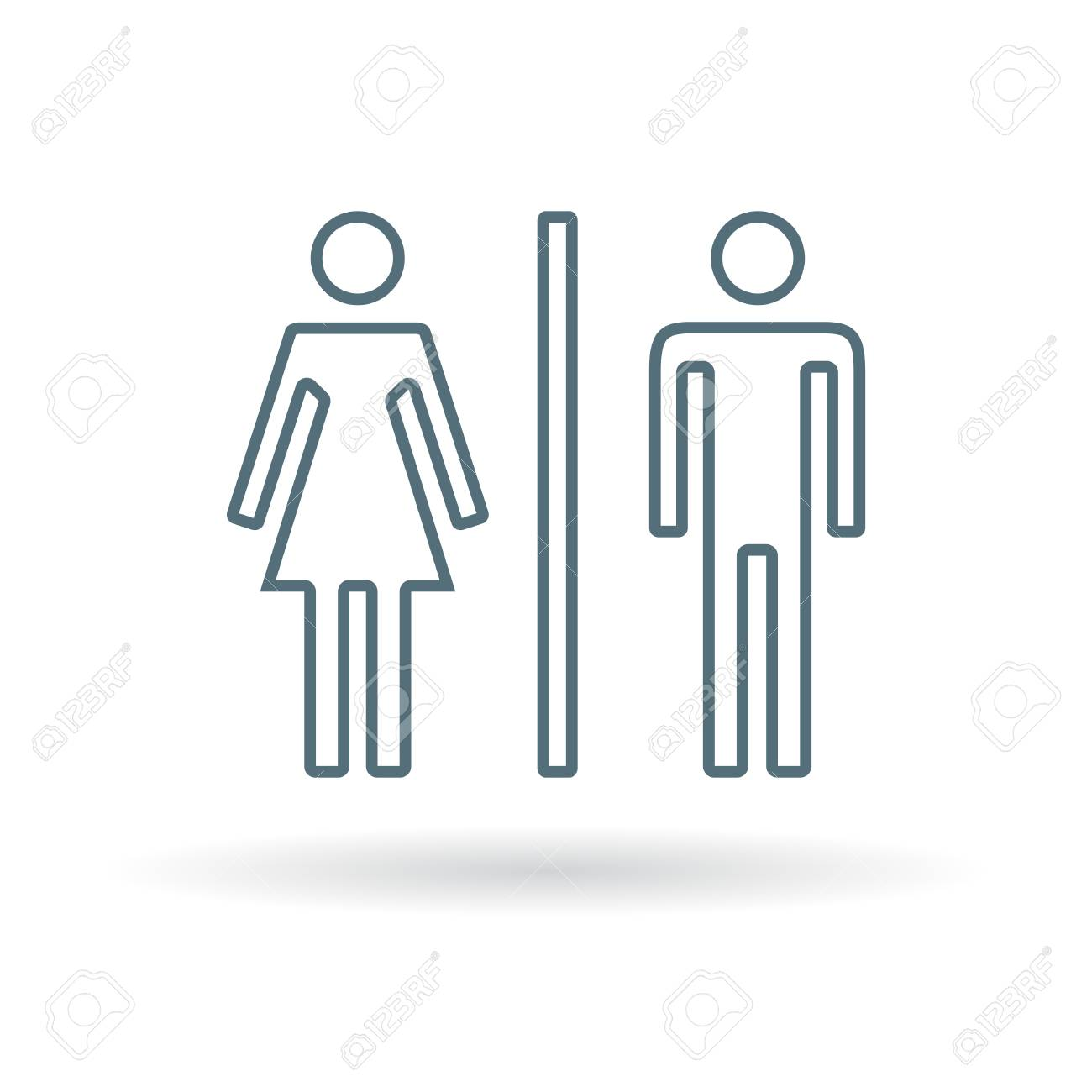 Male And Female Icon Male And Female Sign Male And Female Symbol