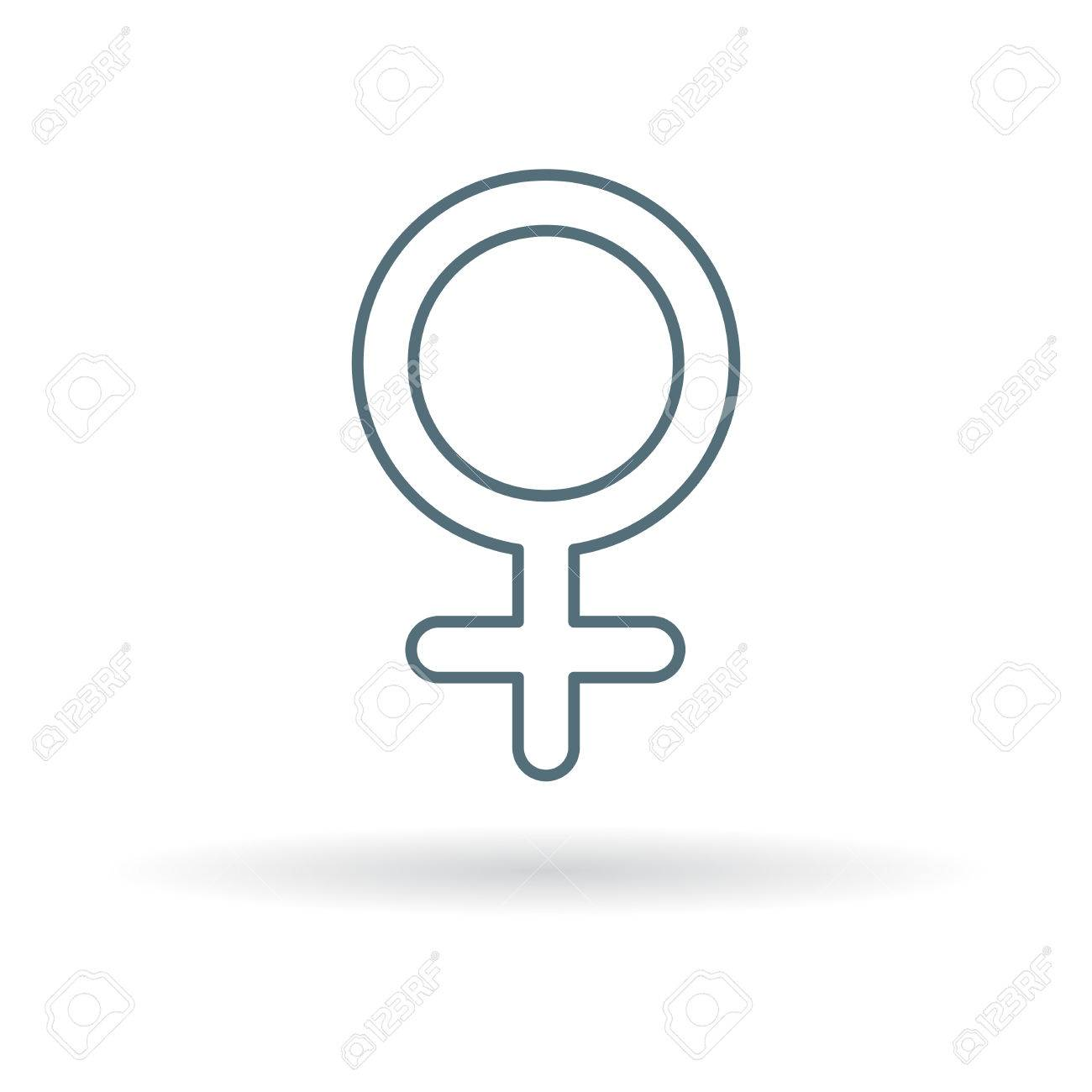 Female Gender Icon Female Gender Sign Female Gender Symbol