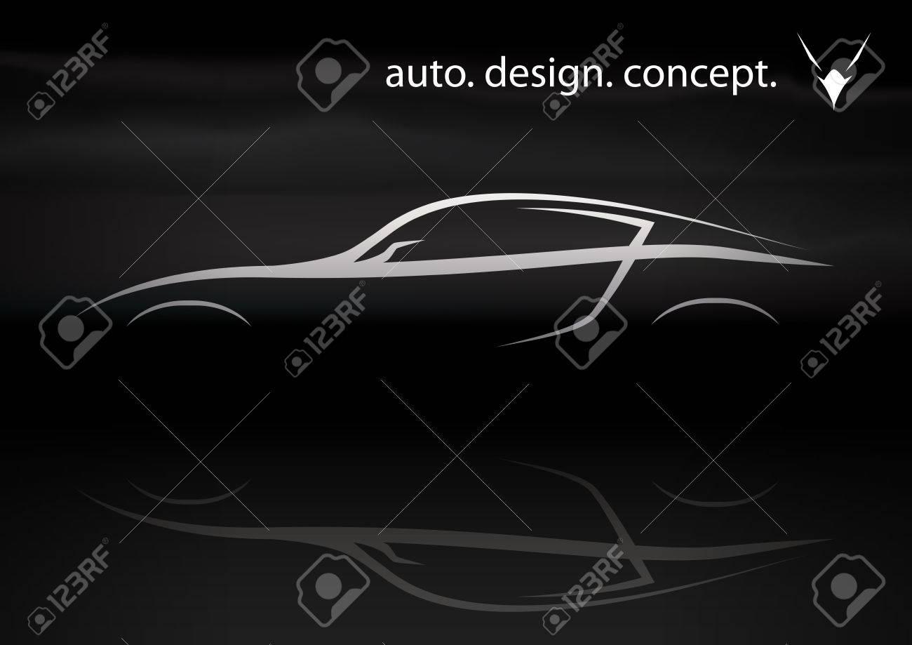 Conceptual Vector Auto Design Of Supercar Silhouette Royalty Free