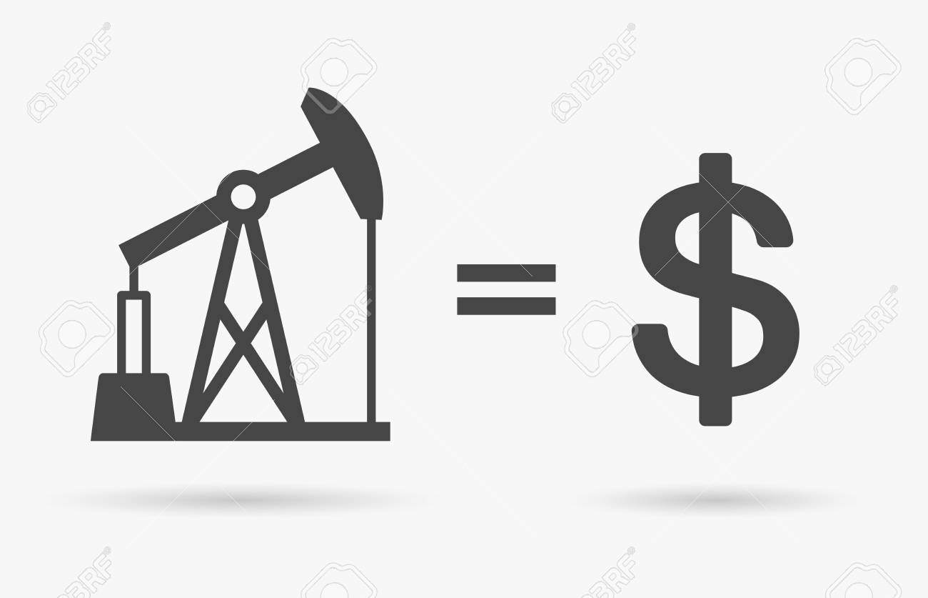 Crude oil sign equals dollar currency symbol value of oil crude oil sign equals dollar currency symbol value of oil concept icon vector illustration biocorpaavc Gallery