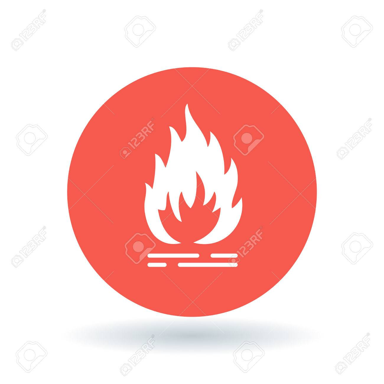 Fire icon flammable sign flame symbol white fire icon on red flame symbol white fire icon on red circle background buycottarizona Image collections