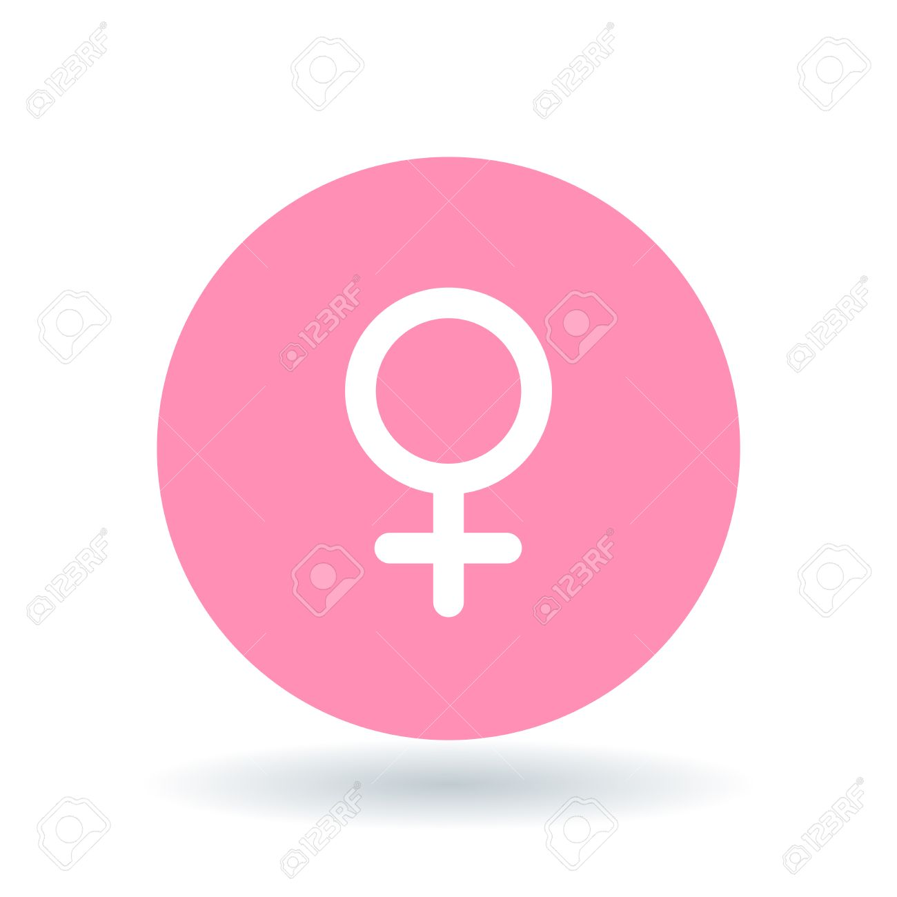 Female Gender Icon Ladies Sign Women Symbol White Female Symbol