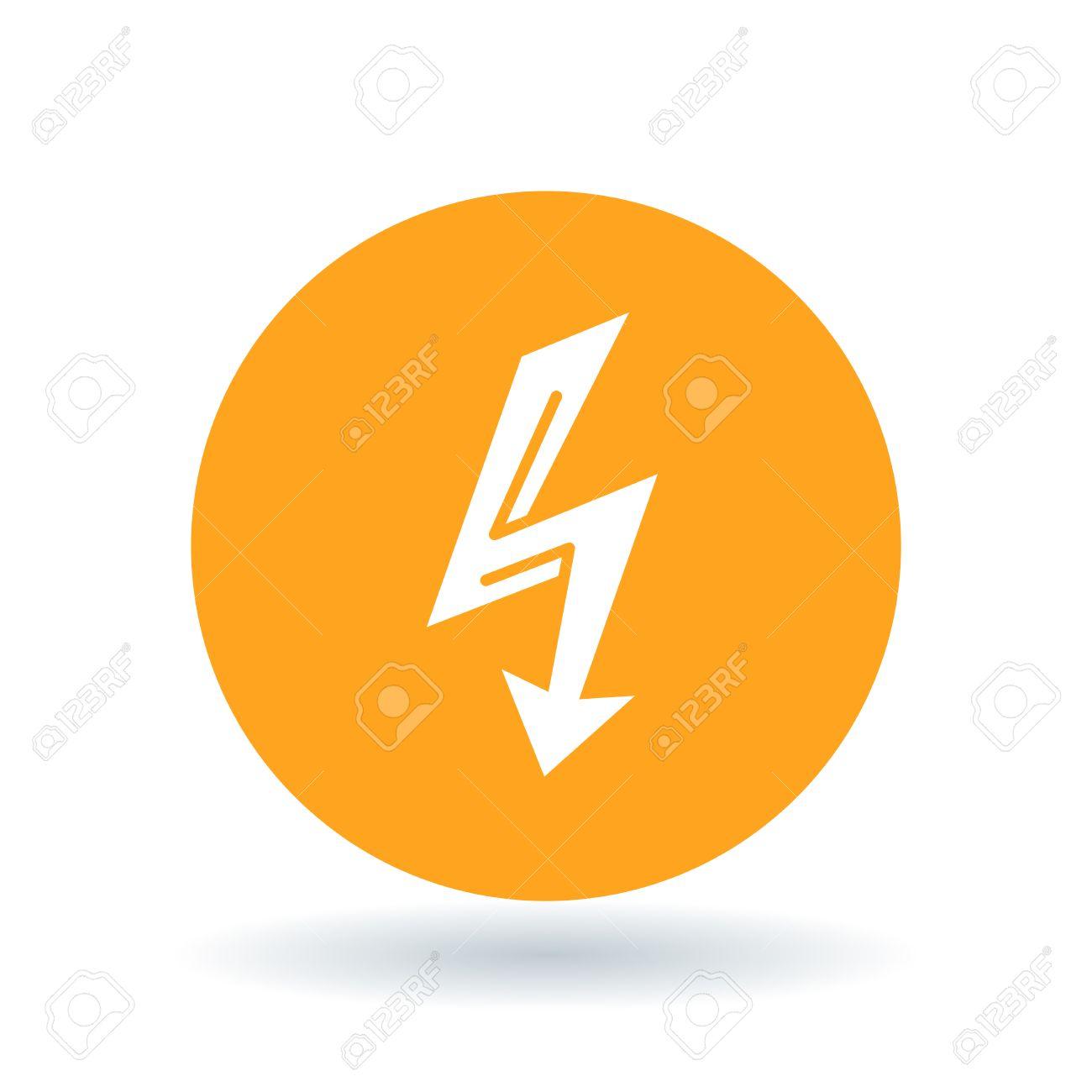 Elektrische Thunderbolt Pfeilsymbol. Donnerschlag Zeichen ...