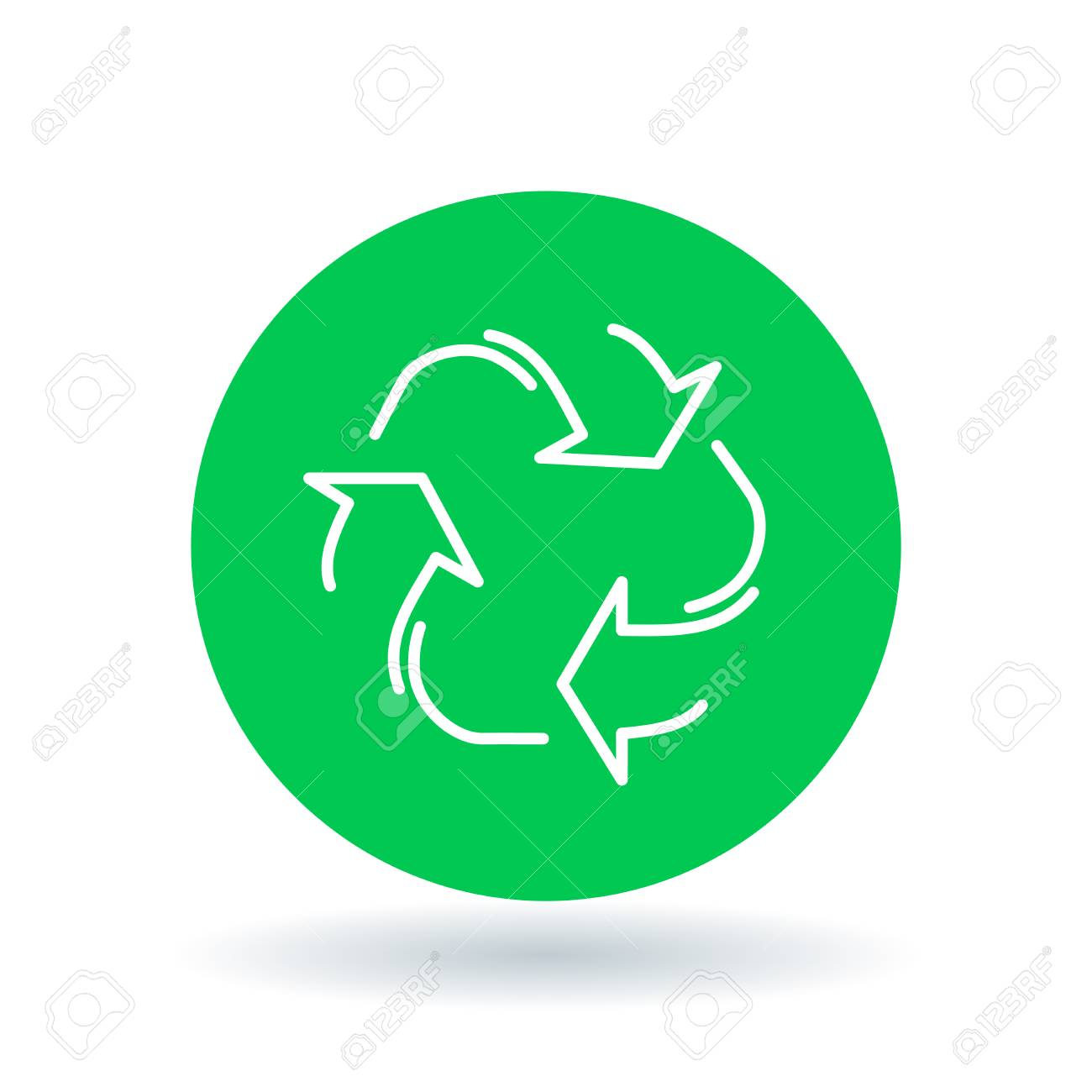 Recycle Icon Reuse Sign Recycle Symbol White Recycle Icon