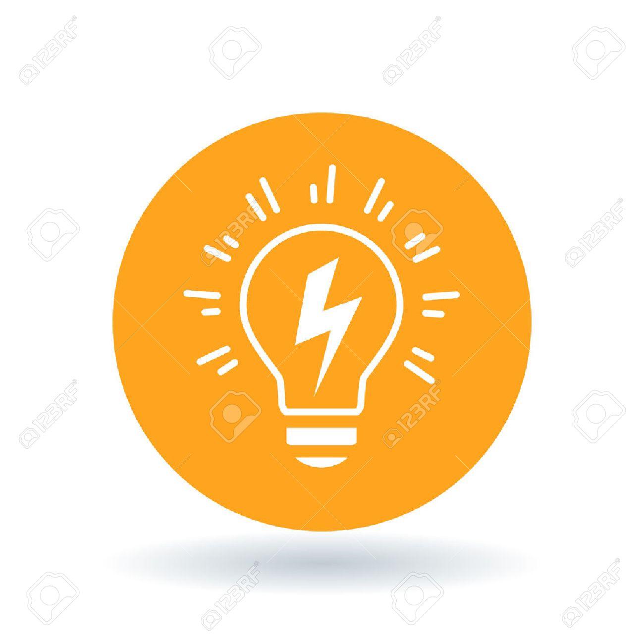 Konzeptionelle Glühbirne Idee Symbol. Glühbirne Flash-Zeichen ...