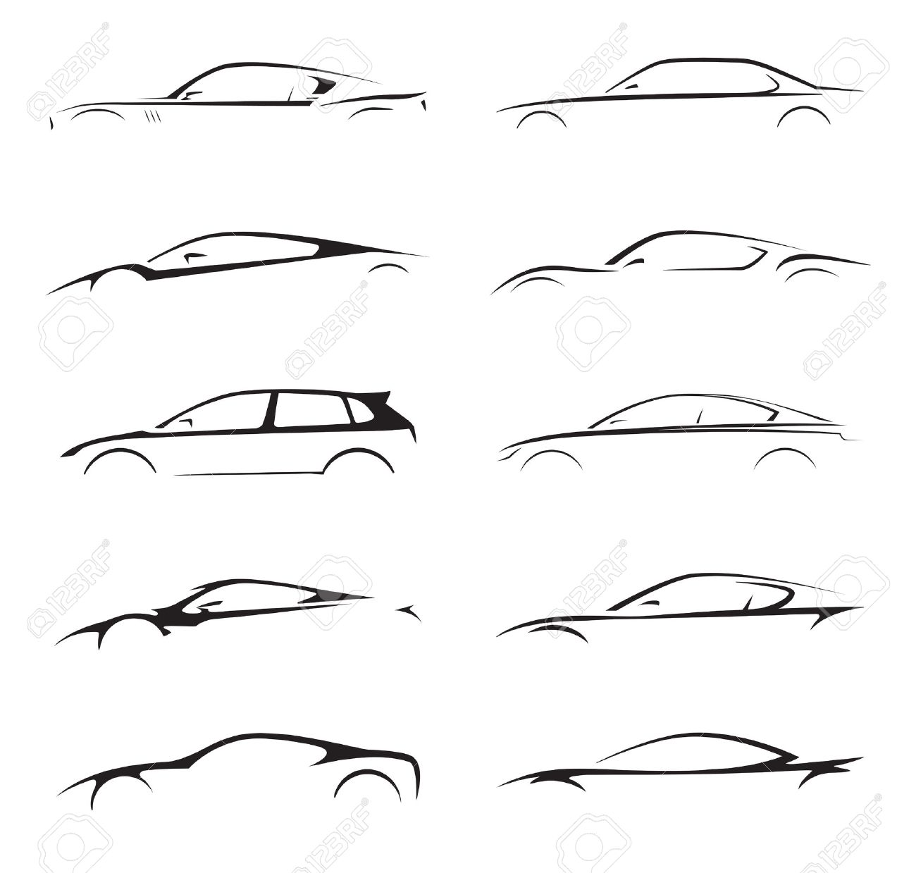 Concept Supercar Sports Car And Sedan Motor Vehicle Silhouette