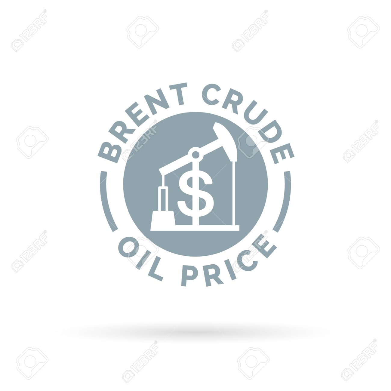 Price Of Brent Crude Oil Icon With Oil Pump Symbol And Dollar