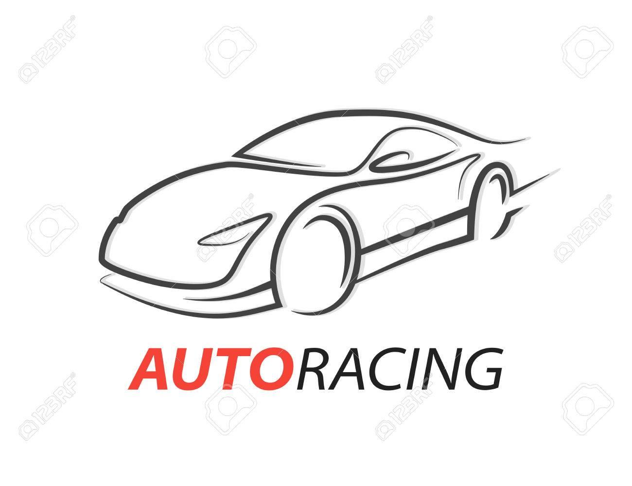 Original Concept Car Racing Car Icon With Gray Sports Supercar
