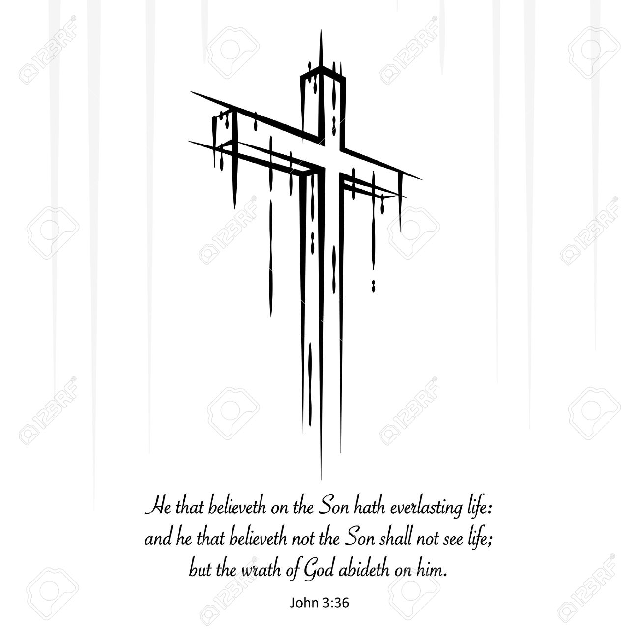 christ jesus cross crucifix sketch with christian new testament