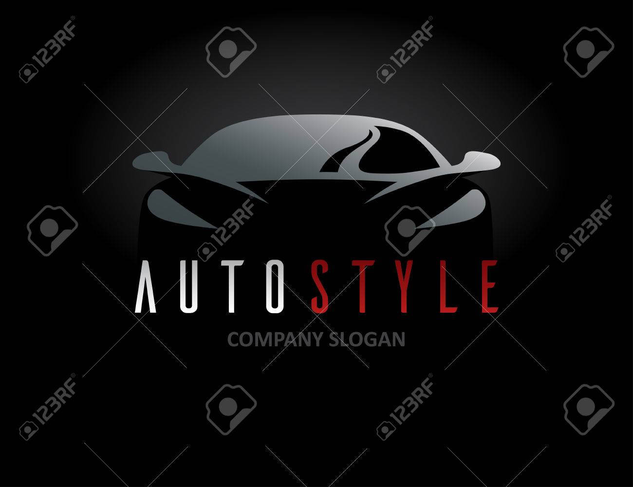 Auto Style Car Icon Design With Concept Sports Vehicle Symbol
