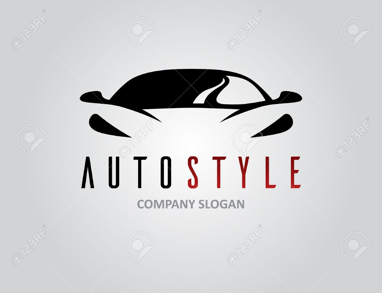 Auto style car icon design with concept sports vehicle symbol silhouette on light grey background. Vector illustration. - 71144163