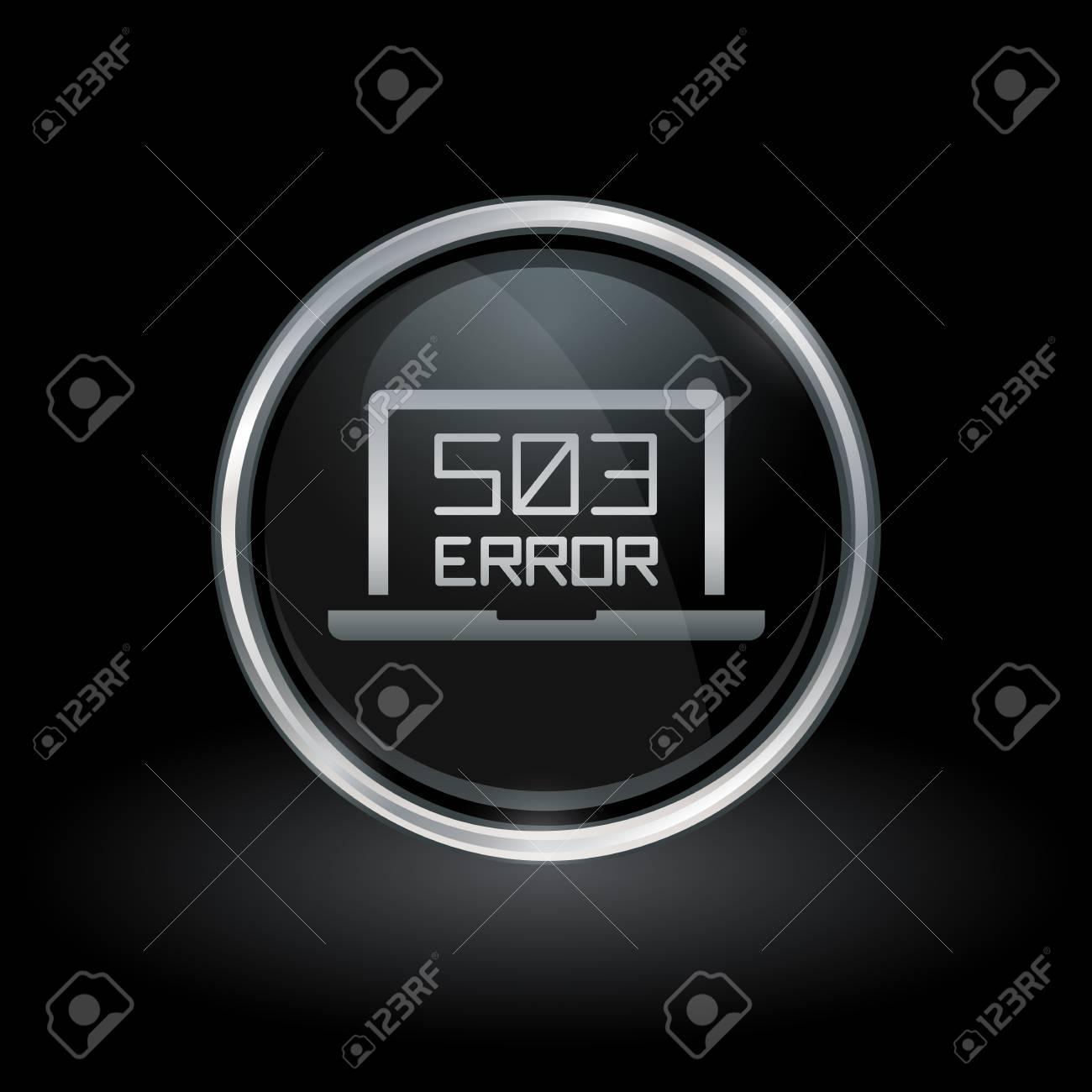 Laptopwebseiten-Fehlersymbol Mit HTTP-Fehler 503 - Service-nicht ...