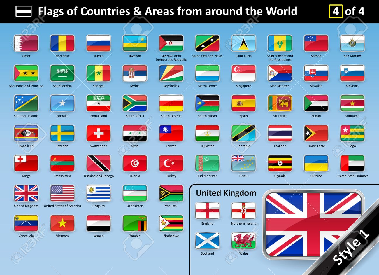World all country flag images