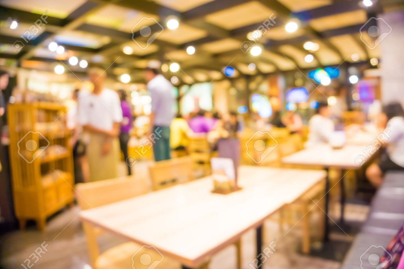 Restaurant Background With People blurred restaurant background, people in coffee shop blur