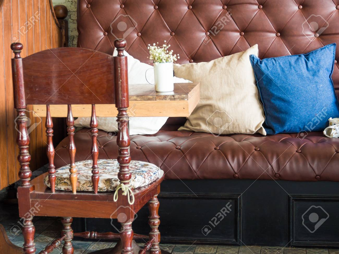 Vintage Style Of Coffee Shop Interior Decoration The Leather Stock