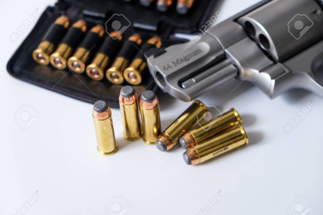 44 Magnum Revolver Handgun Arm...