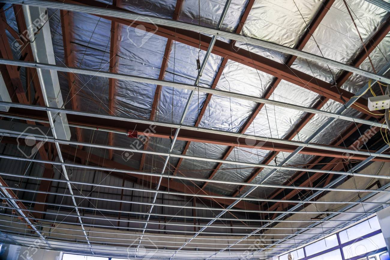 Renovate Building New House With Frame Of Suspended Ceiling Construction
