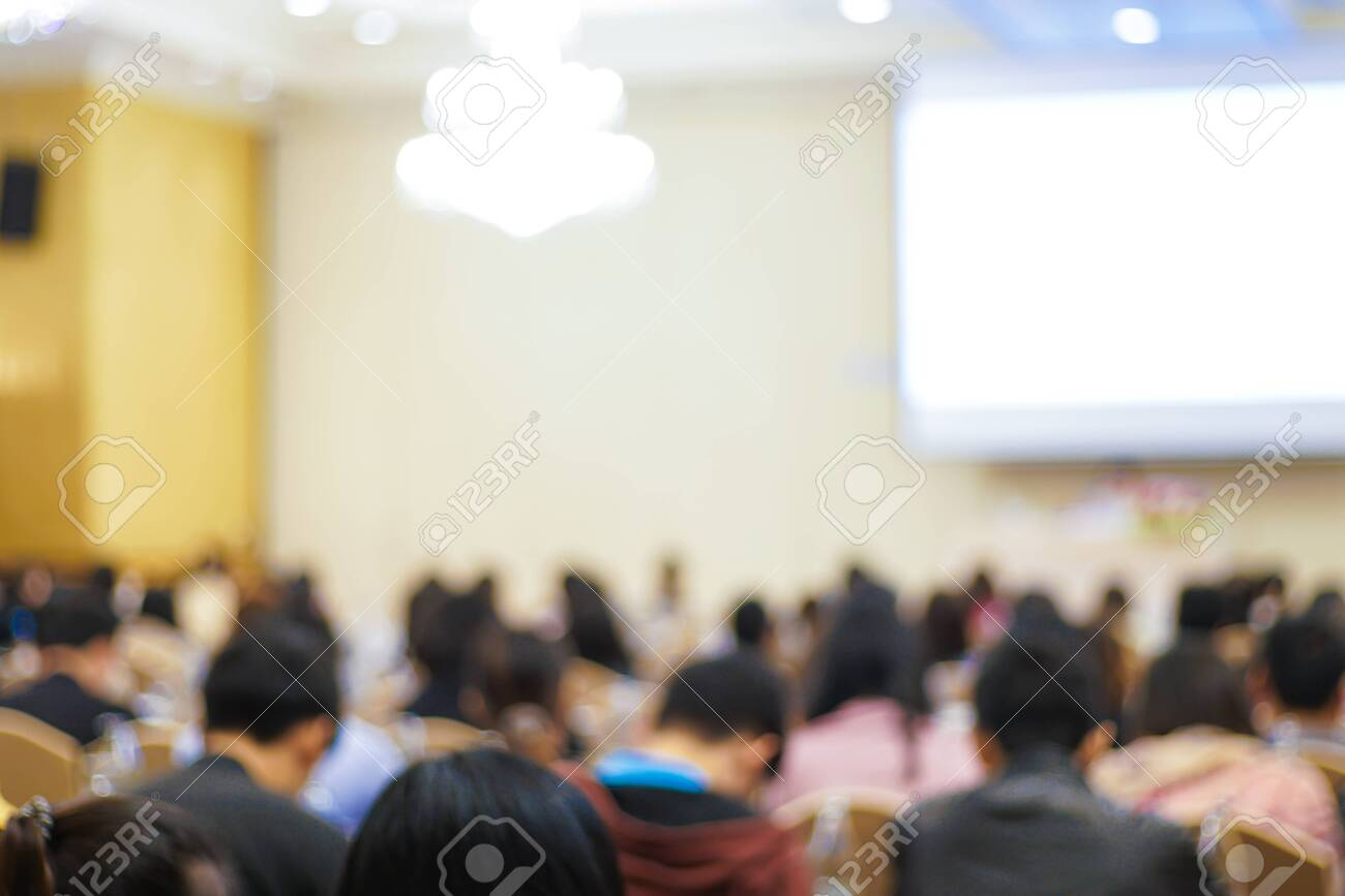 Blurred group of business people learnning in seminar room education background - 126668358