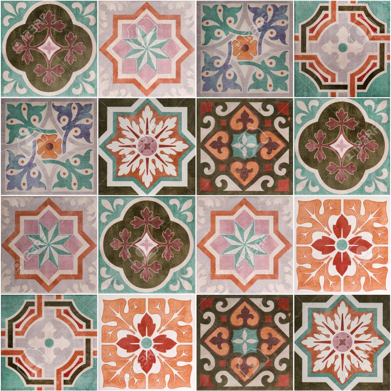 Ceramic tiles patterns from portugal stock photo 39880361