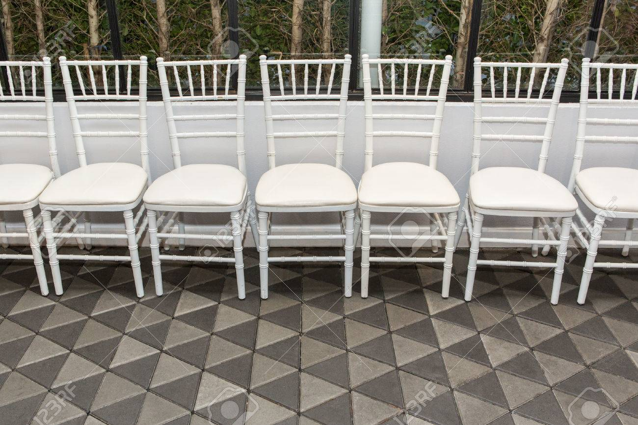 Stock Photo - White chairs arranged in rows & White Chairs Arranged In Rows Stock Photo Picture And Royalty Free ...