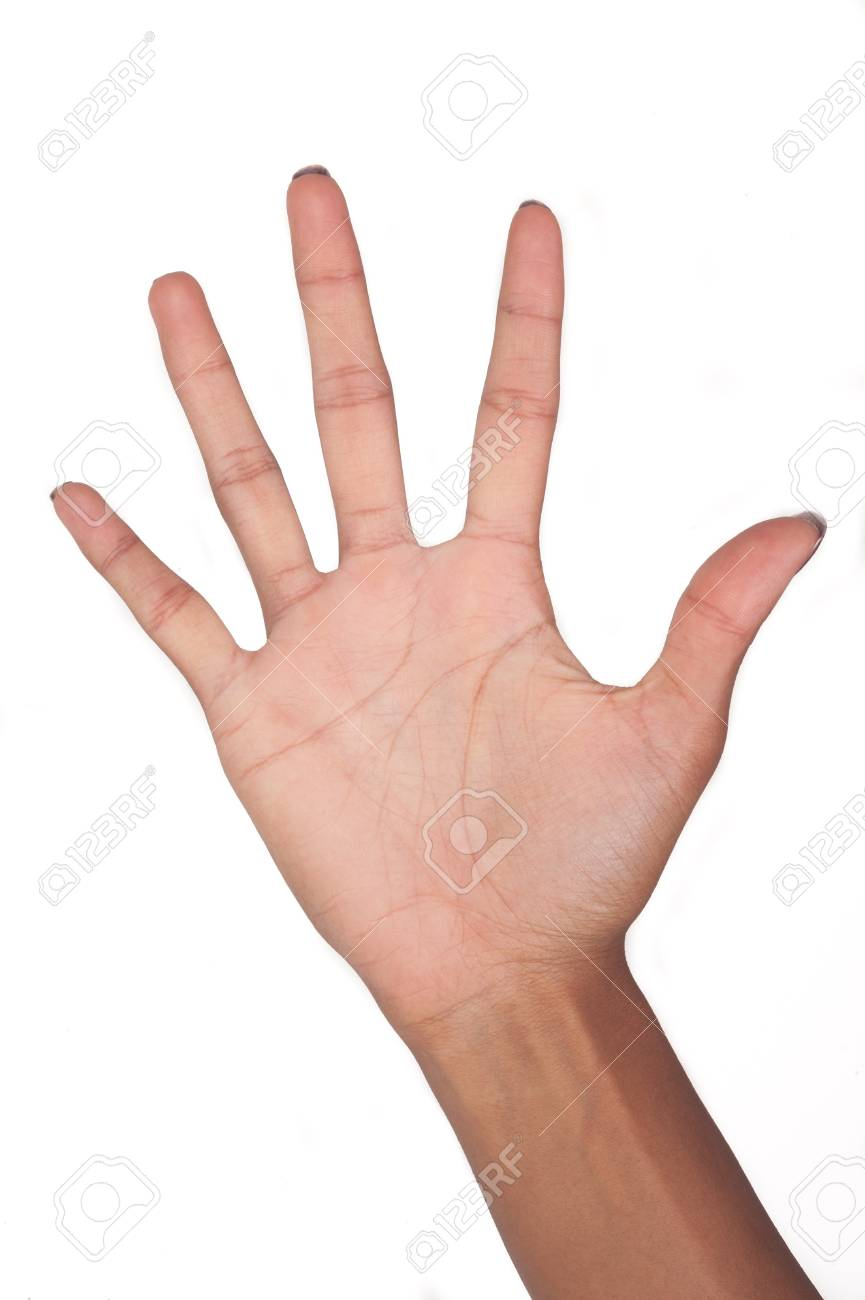 hand signal isolated on white background Stock Photo - 17819273