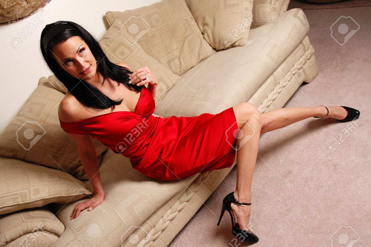 Sexy woman on couch