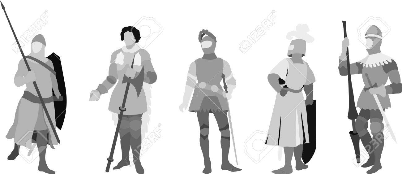 Five Knights Illustration (Set Two) Stock Vector - 7601547