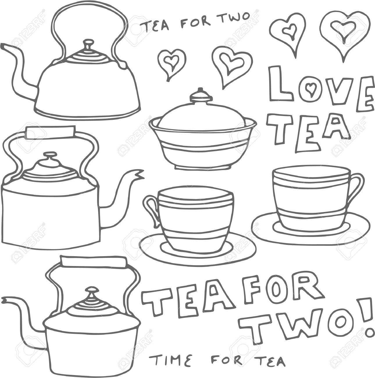 Vintage Tea Design Elements Stock Vector - 10043633