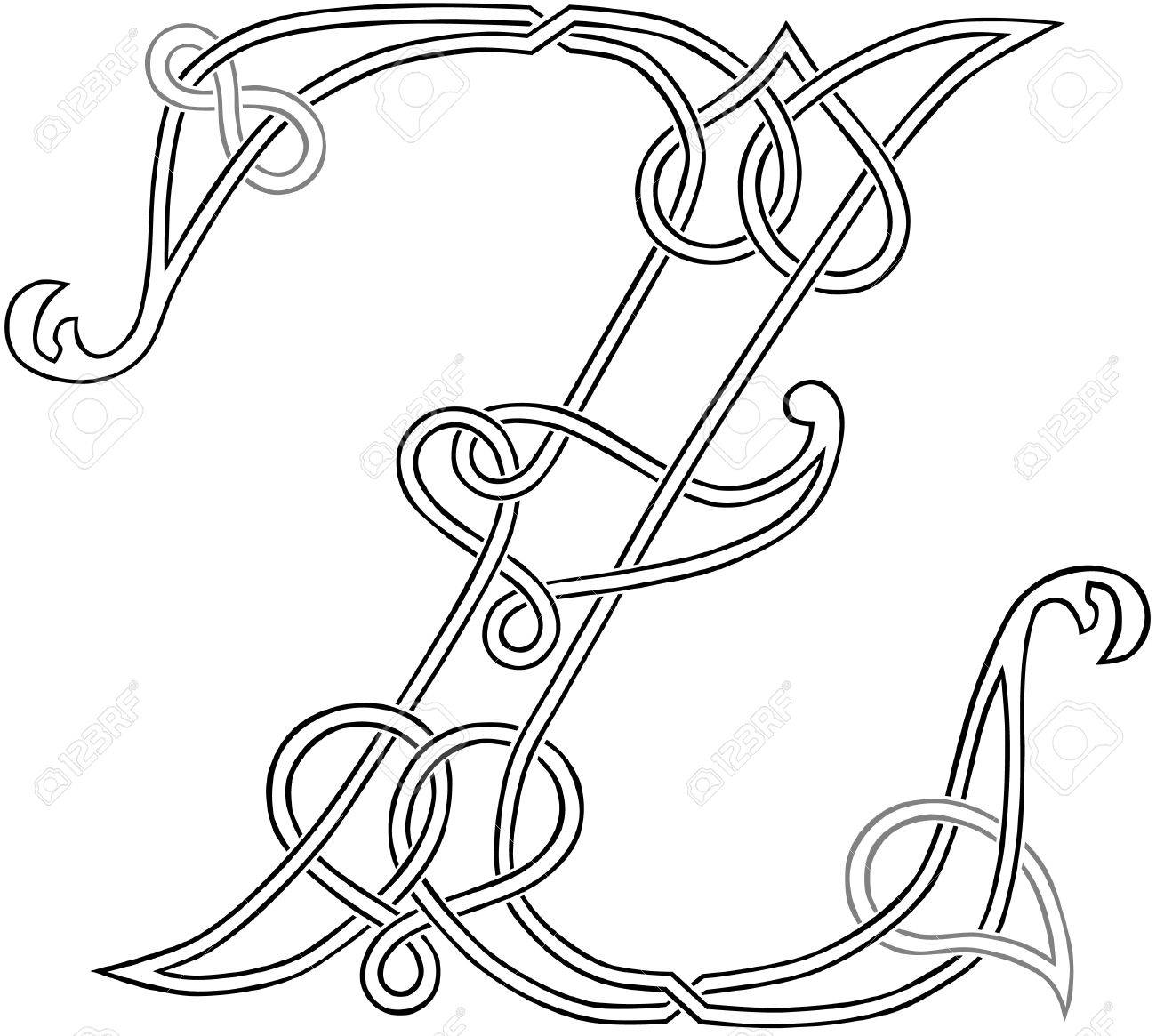 A celtic knot work capital letter z stylized outline royalty free a celtic knot work capital letter z stylized outline stock vector 13895971 spiritdancerdesigns Image collections